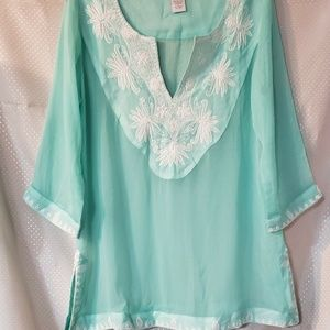 Soft Surroundings Embroidered Tunic Medium